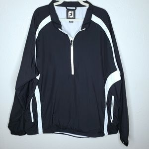 Footjoy FJ Golf 1/4 Zip L/S Black pullover sweater